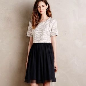 Weston Petite Anthropologie Laced Tulle Dress SP